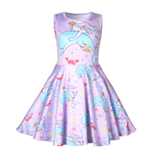 Dress girl Summer Cute baby girl clothes sleeveless princess dress kids clothes for girls vestidos 1248 цены онлайн