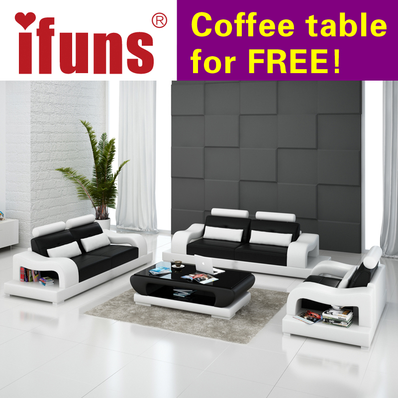 Ifuns 2016 New Modern Design American Home Living Room Furniture 1 2 3 Big Size Genuine Cow Leather Sectional Sofa