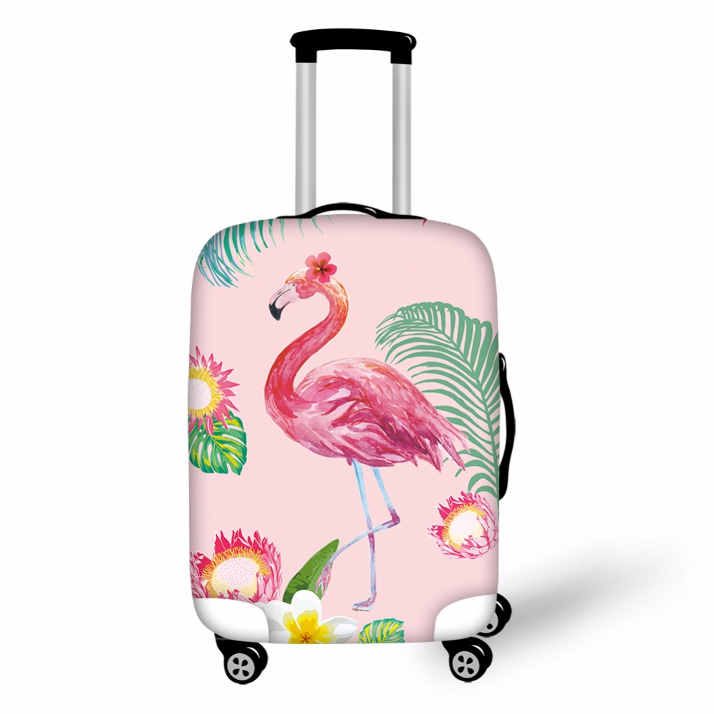 ThiKin 3D Flamingo Elastic Luggage Protective Covers For 18-30 Inch Suitcase Thick Dust Pink Cover Travel Bag Case Cover