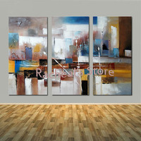 Hand Painted Modern Abstract Design 3 pieces/set Wall Picture Oil Painting Abstract Wall Picture Living Room Home Decoration Art
