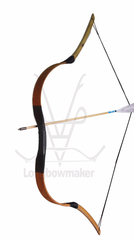LongbowMaker 20-80 lbs Ali Bow Traditional Handmade Hungarian Pigskin Longbow Archery Hunting Recurve Bow Target longbowmaker handmade red pigskin kids bow archery hungarian style longbow for beginner 10 25lbs prp