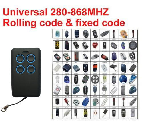 Universal Multi frequency copy 280-868mhz frequency remote control duplicator free shipping hormann hs1 868 hs2 868 hs4 868mhz remote control replacement