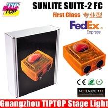 Бесплатная Доставка Sunlite Suite 2 ФК Версия С DMX 1536 каналы Полный Режим 3D Визуализатор USB DMX свет этапа Консоли Freeshipping