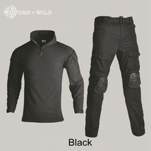 цены Tactical Military Uniform Clothing Army Camping Combat Jersey Shirt +Pants With Knee Pads Camouflage Hunting Coat Clothes