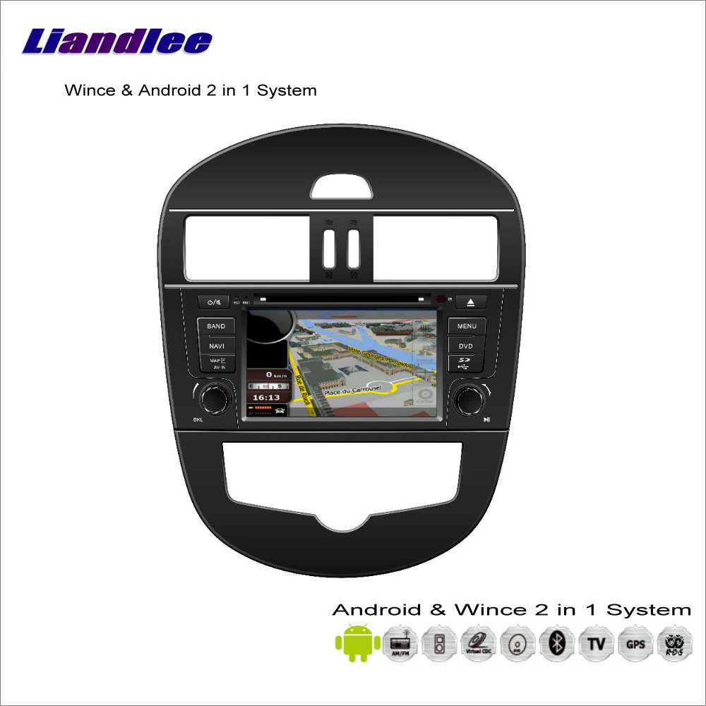 Liandlee Car Android Multimedia Stereo For Nissan Tiida 2011~2013 Radio BT CD DVD Player GPS Nav Navi Map Navigation Audio Video