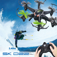 High Quqlity Xmas Gift 4-Channel 6-Axis SK D22 2.4GHz RC Quadcopter Drone for Kids Adults Toys Wholesale Free Shipping