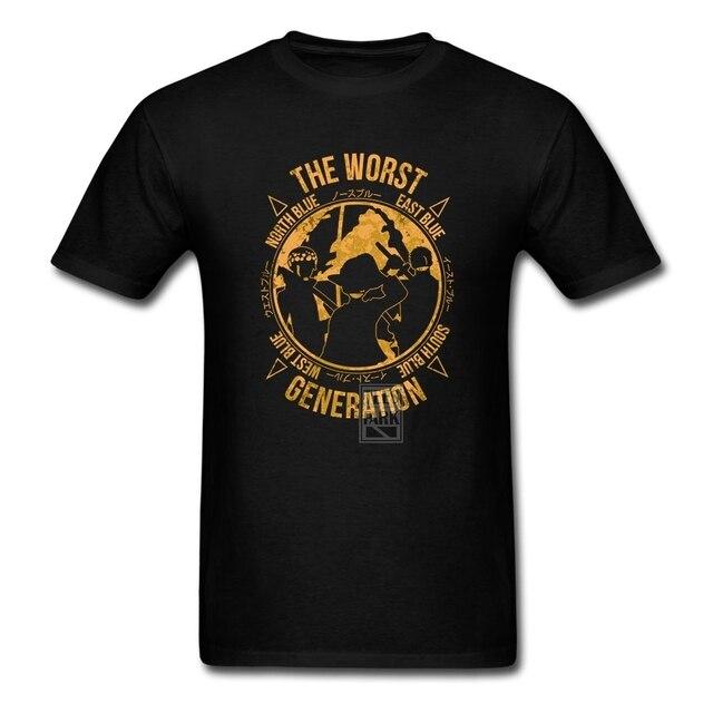 Divertido Geek Camisetas de Una Pieza El Peor Generación