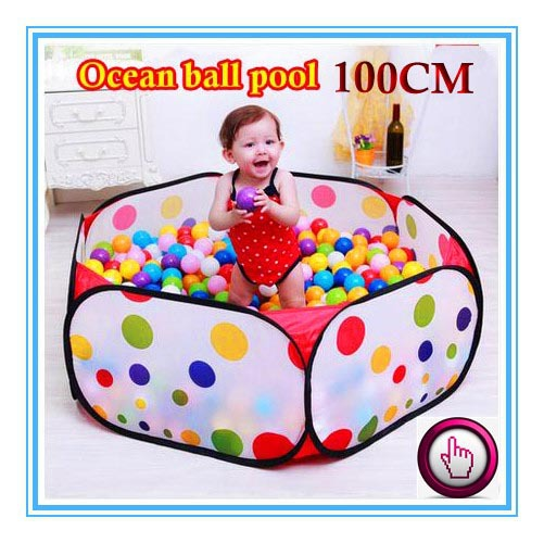 100CM KID PORTABLE FOLDING OUTDOOR & INDOOR PLAY GAME HOUSE CHILDREN POP UP TENT BALL PIT TOYS BALLS FOR POOL CHILDRENS PLAYPEN