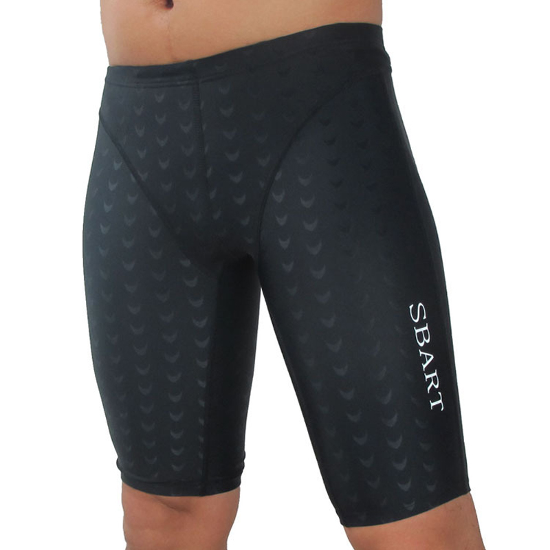 C151 Shark skin swim pants to increase the size of sexy men hot spring low waist angle five men men swimming trunks