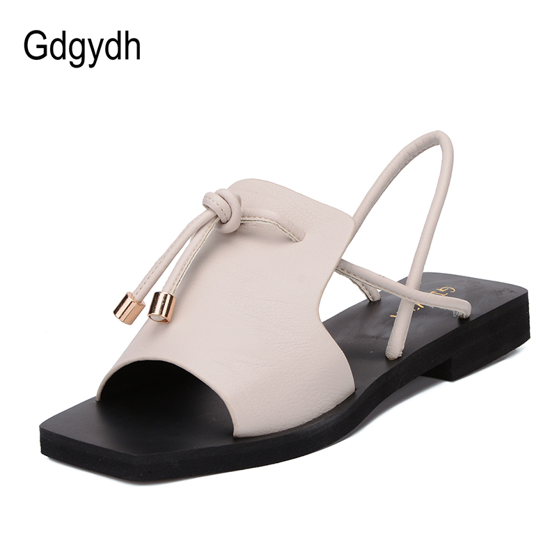 Gdgydh Lace Up Low Heels Mujeres Sandalias 2018 New Summer Ladies - Zapatos de mujer