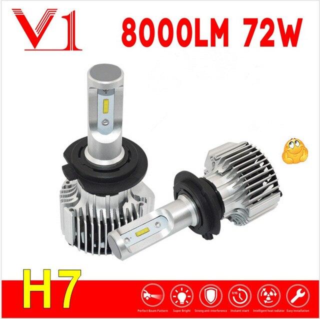 fantasice heldere v1 72 w ultradunne led h7 lamp pk n2 8000 lumen koplamp h4 led - Led Lampen Lumen