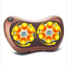 8 Drives Electric Shiatsu Heat Massager 12V 30W Brown Pillow Cushion Home Car For Lumbar Neck Knead Back Waist Body electric drives principles