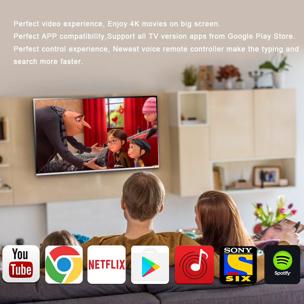 Google Smart TV Box with Voice Control
