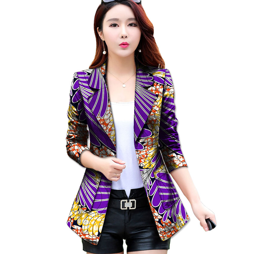 Fashion African Print Women Suit Jacket Africa Festive Ladies Long Sleeve Tailored Blazers Jacket  Party Cutomize Africa Costume