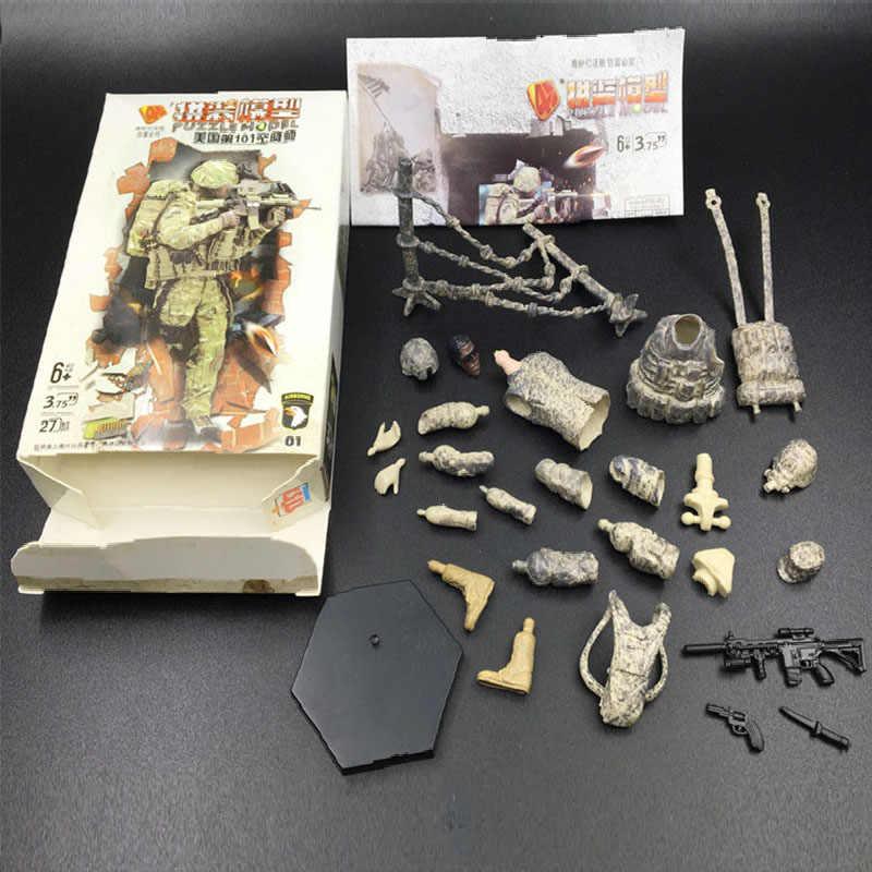 6set Different Assemble Military Soldier Model 101st Airborne Division Air  Assault Building Blocks Toys Model Kits for Children