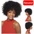 Cheap Short Curly Synthetic Wig Natural Black Curly Hair Short kinky Curly wigs For Black Women Bob Afro wig that look real