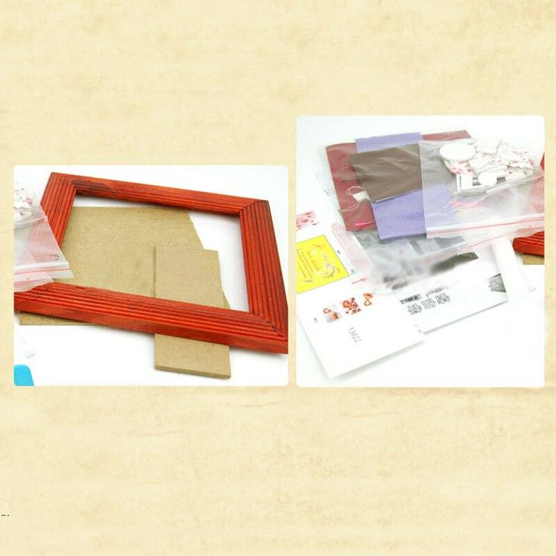 DIY Rahmen Haus Handwerk Modell Holz Puppe Haus Möbel Mit Licht ...