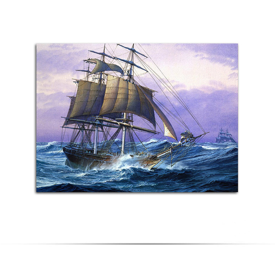 New 5D DIY Diamond Painting Cross Stitch Diamond Mosaic Embroidery Gift Caribbean, sailing ship boat