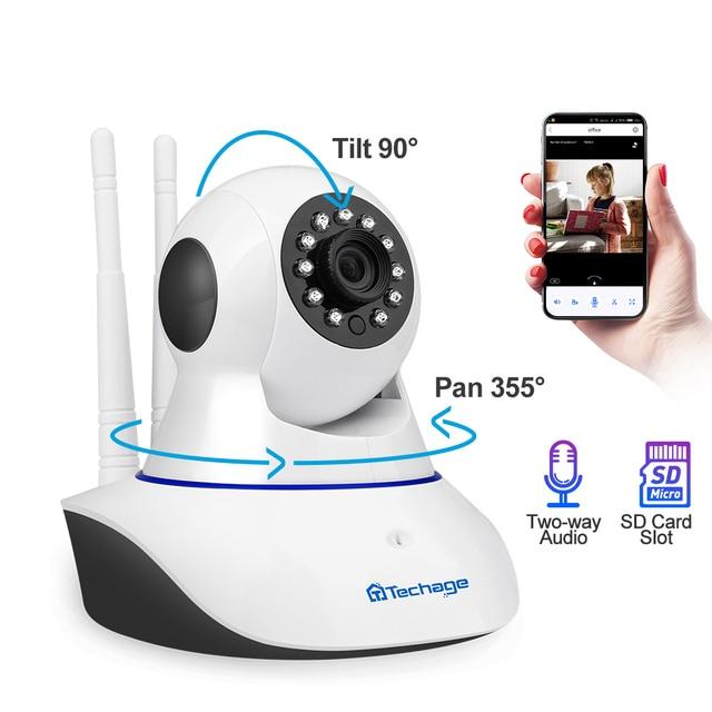 Techage 1080P 720P Wireless IP Camera Night Vision Baby Monitor Home Security 2MP 2-Way Audio Record CCTV Wifi Camera Yoosee APP