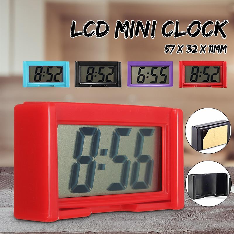ab65cc16274 Charminer Automotivo LCD Relógio Digital de Carro Auto Adesivo da Vara Em  Tempo Pequeno Portátil de Plástico Preto Vermelho Céu Azul Roxo em Relógios  de ...