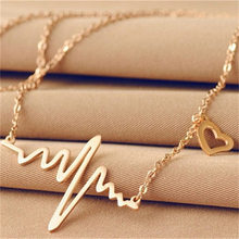 Colares de eletrocardiografia, corrente para mulheres, pingente de batimento cardíaco, joias para mulheres, presente de amante