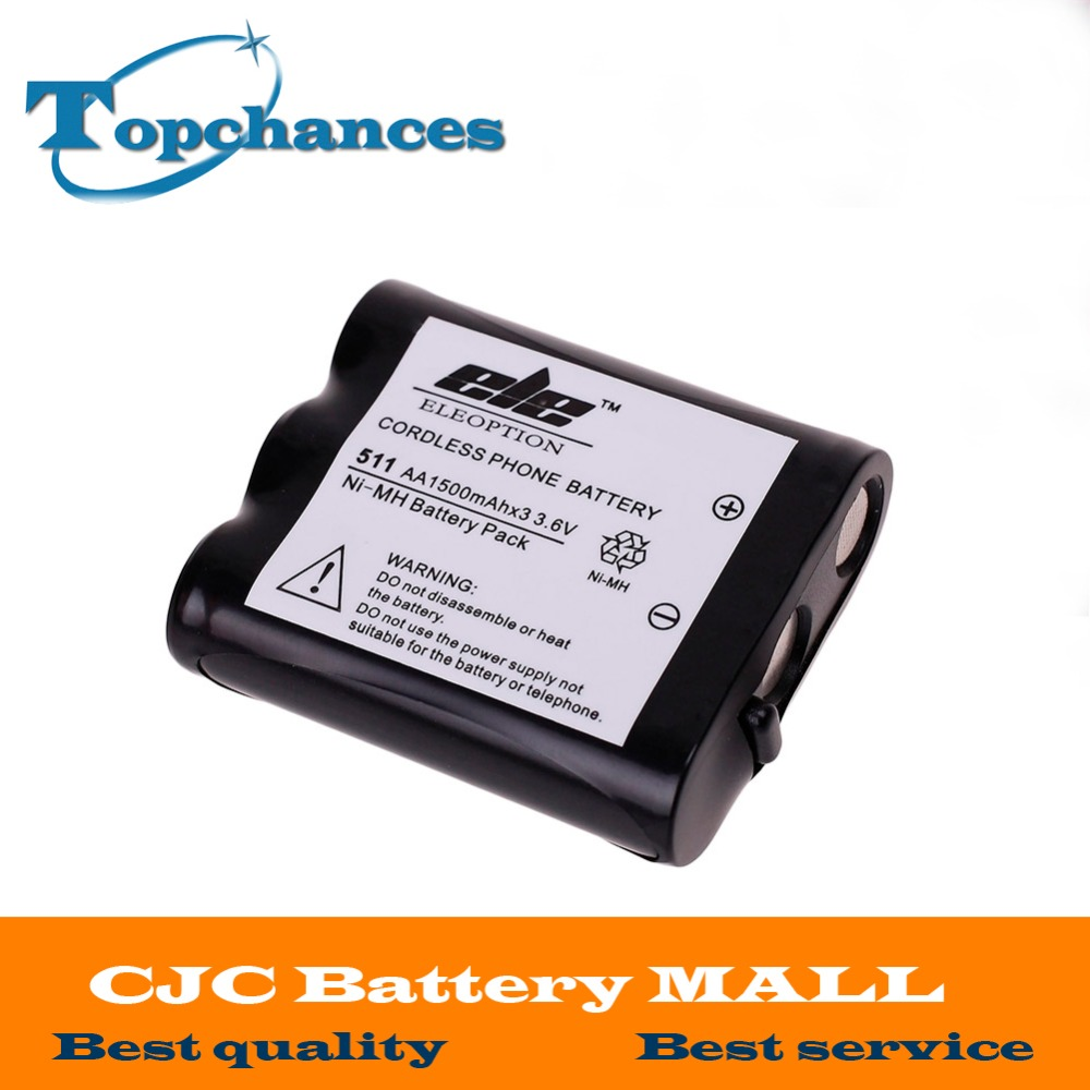 3.6V 1500mAh NI-MH Rechargeable Cordless Home Phone Battery for Panasonic P511 P-P511 PP511 P-P511A ER-P511 HHR-P402