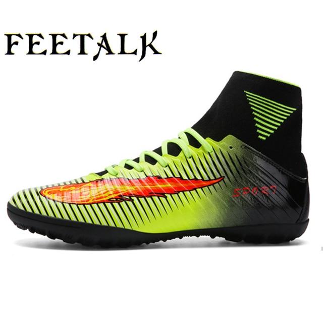 21432c2028571 Zapatos de fútbol para adultos Futsal Chaussures botas de fútbol de  interior Voetbalschoenen botas de fútbol