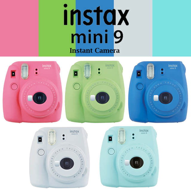 100 Genuine Fujifilm Instax Mini 9 Camera Fuji Instant Upgraded 8 Film Photo