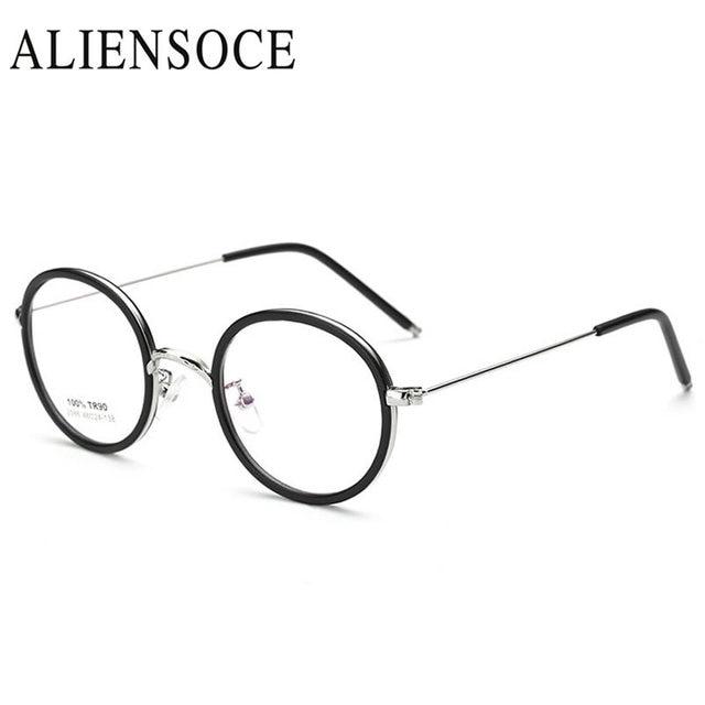 8d5d367d7f Fashion New High Quality Men Women Retro Round Metal Eyeglasses Frames  Korean Myopia Glasses Frame Optical Eyewear