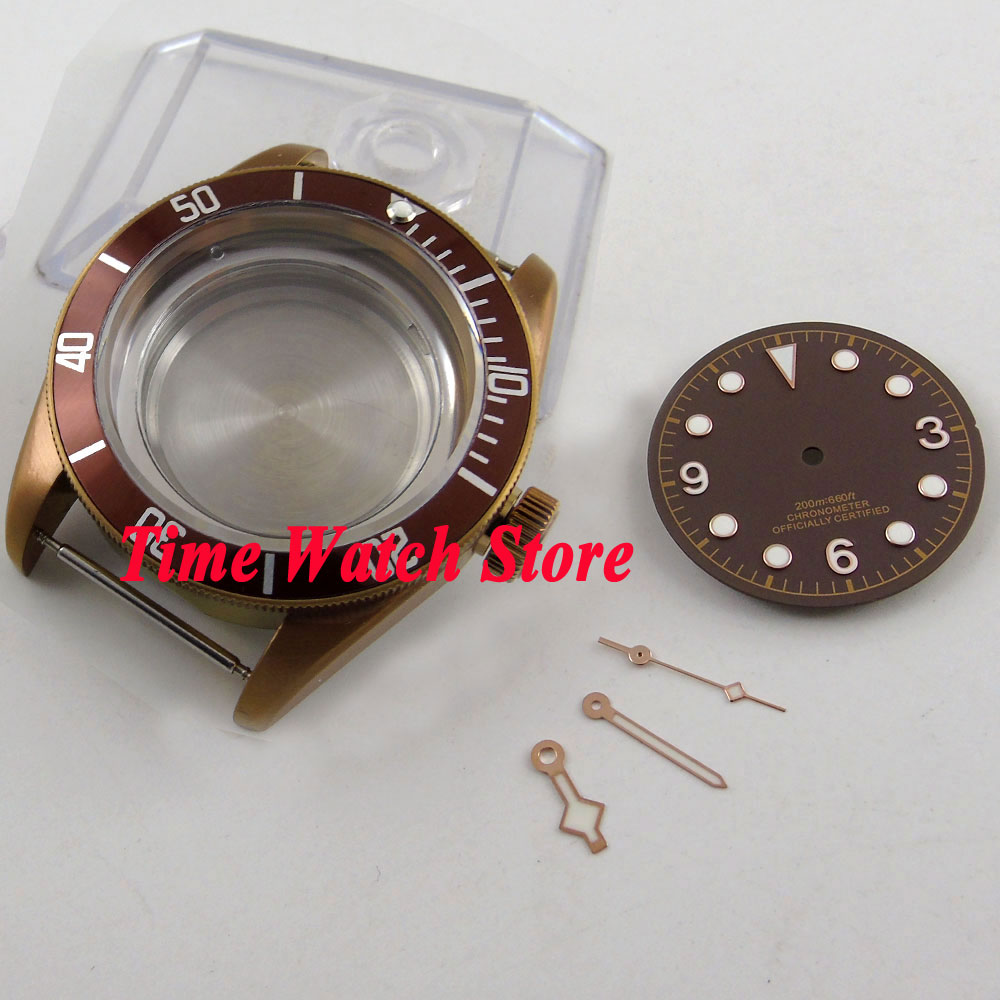 41mm sapphire glass 20ATM coffee PVD watch case fit ETA 2836 MIYOTA movement with coffee dial and hands C10341mm sapphire glass 20ATM coffee PVD watch case fit ETA 2836 MIYOTA movement with coffee dial and hands C103