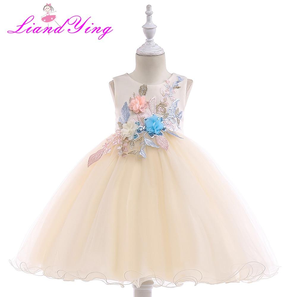 1bb954984 Cielarko Party Dress for Girls Princess Formal Flower Baby Dresses ...