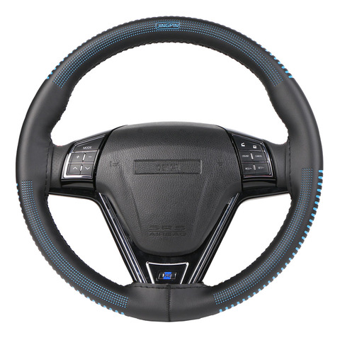 Steering Wheel Cover Universal 38 cm/Artificial Leather Braid for Steering-wheel DIY Thread, Needle Stitch on(3D embossing) Lahore