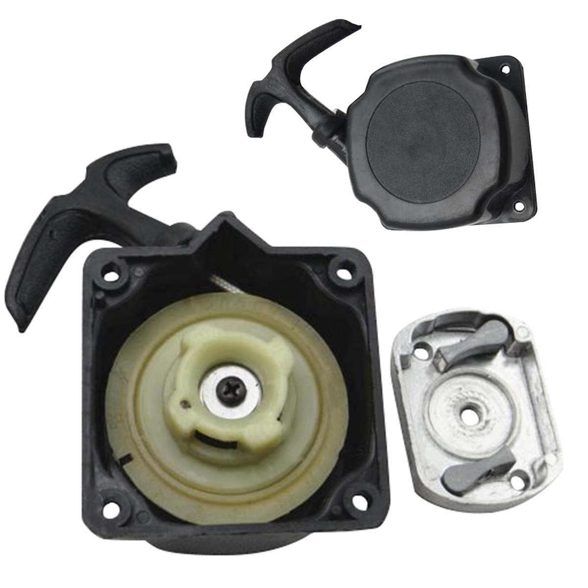 Mayitr Recoil Pull Starter + Cog Part Gas Scooter Lawn Mower Parts For Brush Cutter Strimmer Lawnmower mayitr recoil pull starter start spring kit replacement for engine lawn mover parts