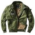 Ввс Бомбардировщик Куртка Военная Мужская Сгущает Руно Пальто для Зимы P6052
