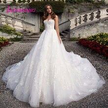 Leiyinxiang 2019 Hochzeit Kleid Vestido De Noiva Sereia Robe Sexy Ballkleid Spitze Luxus Braut Kleid Elegante Appliques Liebsten
