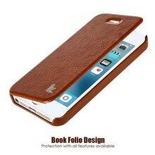 Jisoncase Роскошные модные брендовые кожаные Чехол для iPhone SE 5S Телефон чехол для iPhone 5 флип чехол Мобильный Телефонные чехлы и Сумки