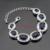 Enorme Escuro Azul Criado Sapphire Cor Prata Conjuntos de Jóias Para Mulheres Colar Pingente Pulseiras Brincos Longos Anéis Caixa de Presente Livre