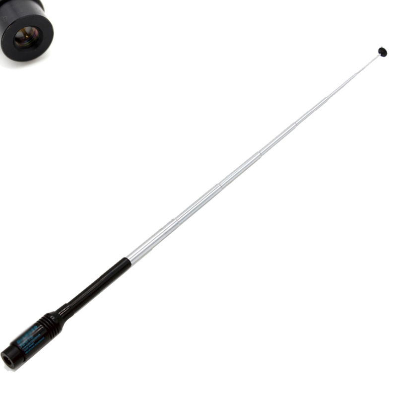 RH775 Sma Male Dual Wide Band Telescopic Antenna For Baofeng Walkie Talkie Two Way Radio Vx-3r Uv-3r Px-2r Zt-2r Uv-985