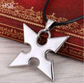 HSIC 1OPCS/LOT Cosplay Kingdom Hearts Alloy Necklace& Pendants Silver Darts Rope Chain Men's Accessories