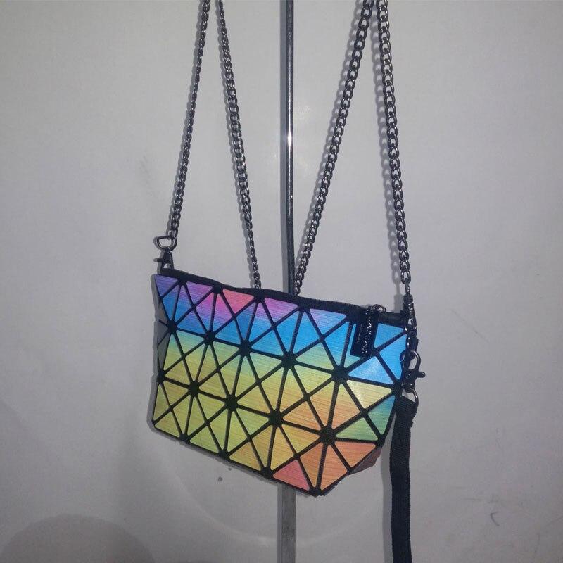 Band Designer Colorful 7Style Fashion BAO BAO Bag Mirror Geometry Sequins Laser Plain Handbag Folding Tote Women Shoulder Bags