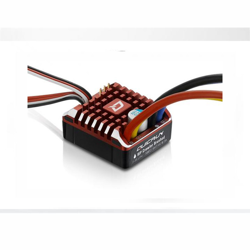 NEW Hobbywing QuicRun WP 1080 Crawler Brushed waterproof ESC 80A with 6V/7.4V 3A BEC Special Design for 1/10th 1/8th Car image
