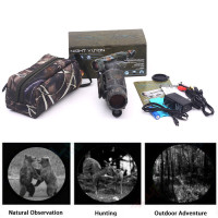 Camouflage 5X40 Powerful Infrared Spotlight Dark Night Vision Monocular Telescopes Scope Hunting Adjustable Eyepiece Telescopio
