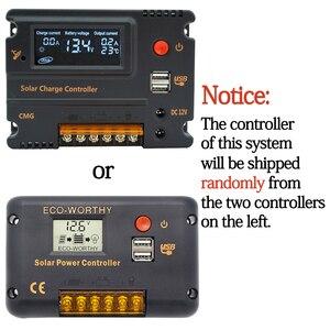 Image 5 - ECOworthy 100W: 100W סולארית מונו פנל & 20A LCD בקר & 5m שחור אדום כבלי תשלום עבור 12V סוללה