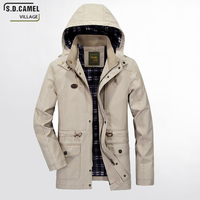 S D CAMEL VILLAGE Men Jacket Military Plus 5XL Male Brand Clothing Spring Autumn Mens Jackets