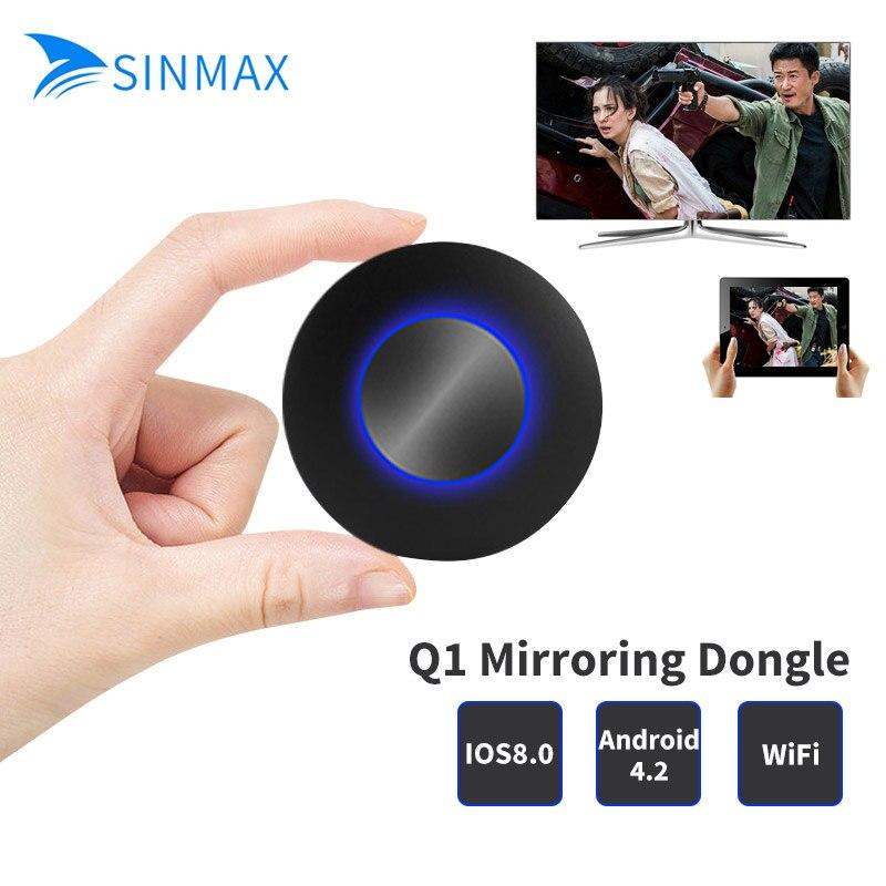Qualité Q1 Ezcast Miracast tv bâton AIR Lecture HDMI 1080 p TV Bâton Media Streamer WIFI Affichage Récepteur Dongle Pour IOS Andriod