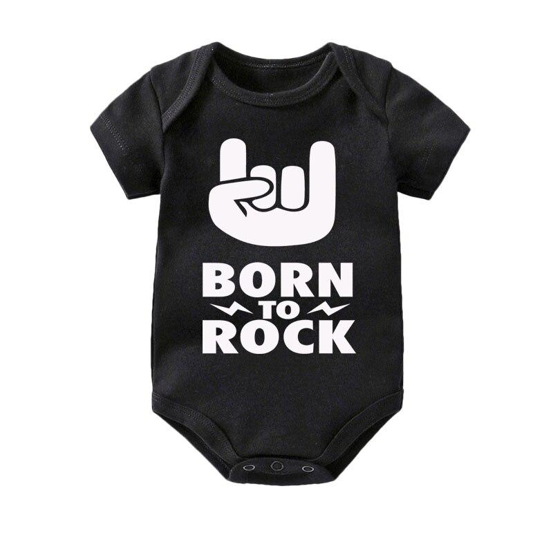 Born to rock baby vest boys girls