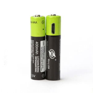 Image 2 - ZNTER AAA Bateria Recarregável 1.5V 400mAh Bateria de Polímero de Lítio Bateria Recarregável USB Universal Com Cabo Micro USB