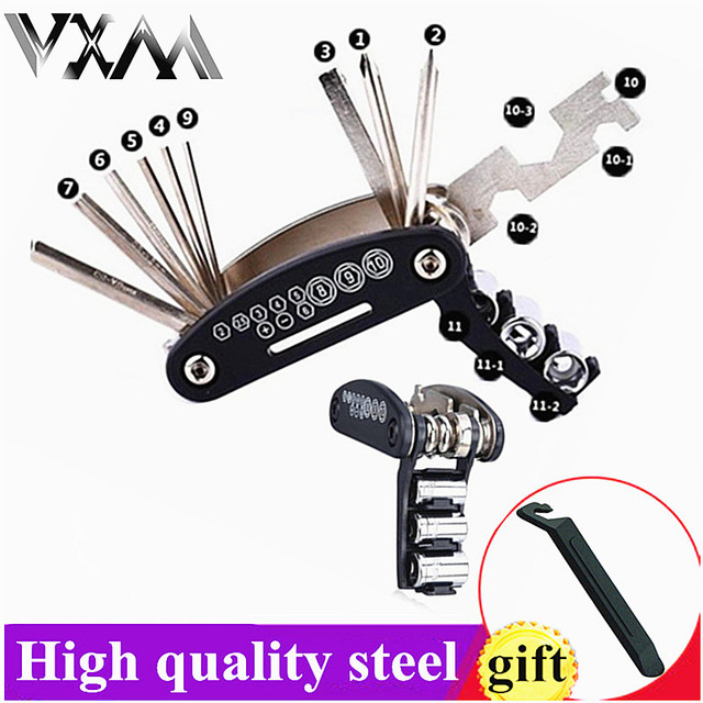 15 in 1 outain Bicycle Tools Sets Bike Bicycle Multi Repair Tool Kit Hex Spoke Wrench Mountain Cycle Screwdriver Tool