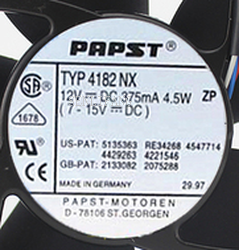 For 12cm 12038 12v 375ma 4.5w TYP4182NX Cooling Fan 4182