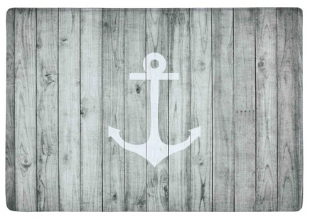 Custom Door Mat Hite Nautical Anchor On Gray Wood Door Mat, Non Slip Carpet  Floor Hall Bedroom Cool Pad Fashion Rug #111 In Mat From Home U0026 Garden On  ...